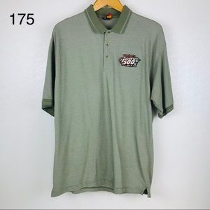 Indy 500 Year 2000 Olive Green Polo Shirt Size XL